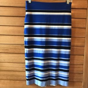 STRIPED PULL ON SKIRT by Ann Taylor. LIKE NEW!